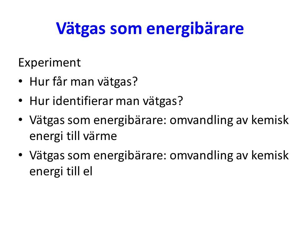 Vätgas som energibärare