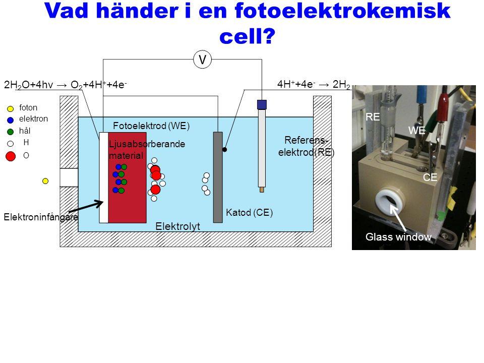 Vad händer i en fotoelektrokemisk cell