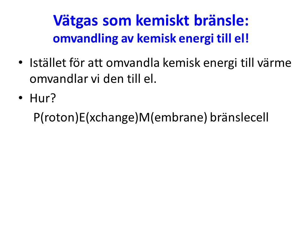 Vätgas som kemiskt bränsle: omvandling av kemisk energi till el!