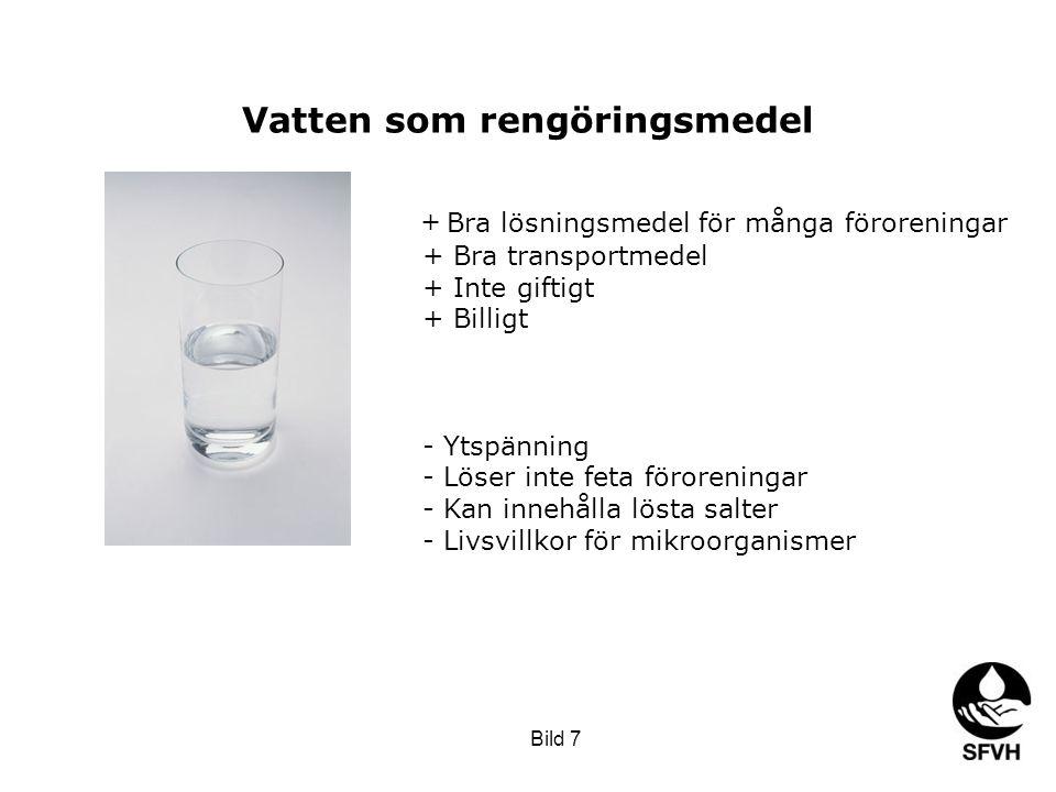Vatten som rengöringsmedel