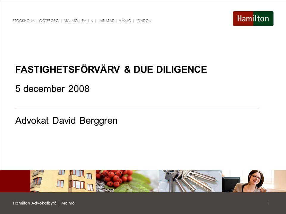 FASTIGHETSFÖRVÄRV & DUE DILIGENCE
