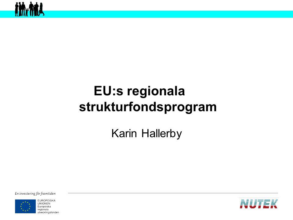 EU:s regionala strukturfondsprogram