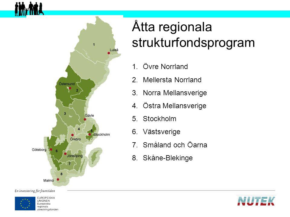Åtta regionala strukturfondsprogram
