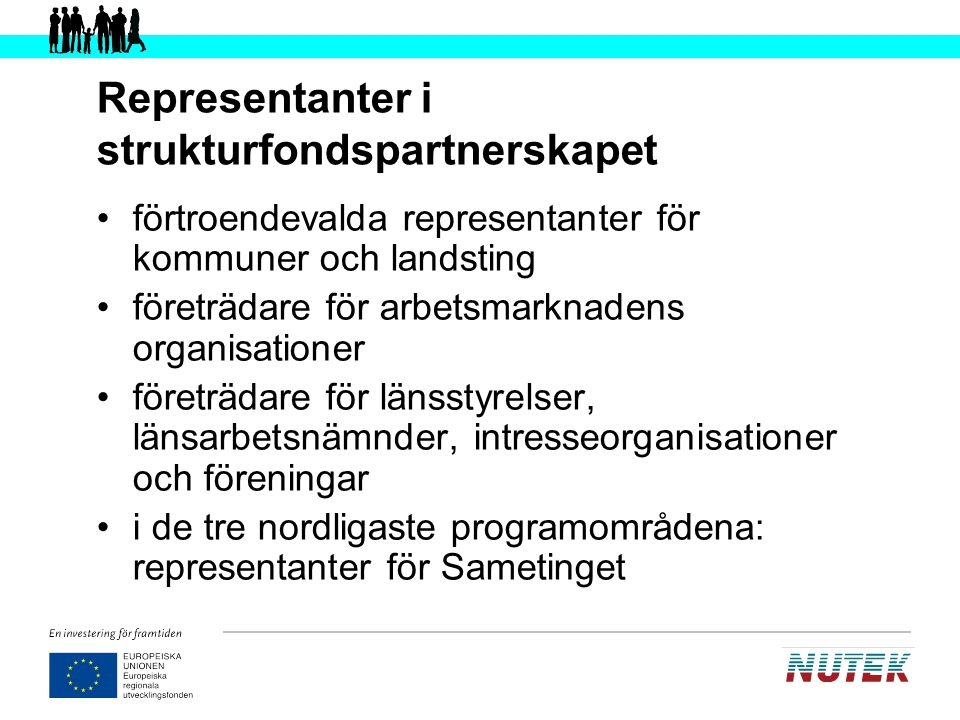 Representanter i strukturfondspartnerskapet