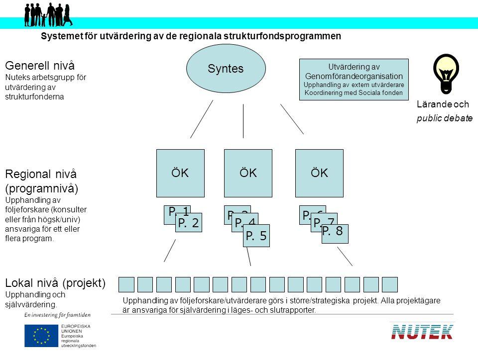 Systemet för utvärdering av de regionala strukturfondsprogrammen