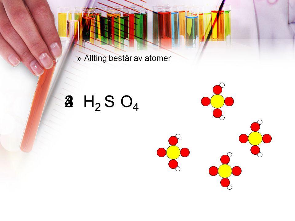 Allting består av atomer
