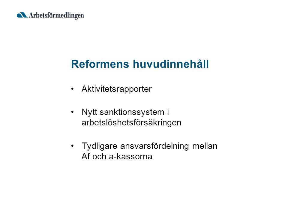 Reformens huvudinnehåll
