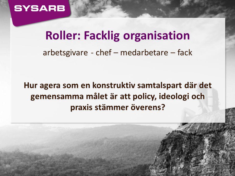 Roller: Facklig organisation
