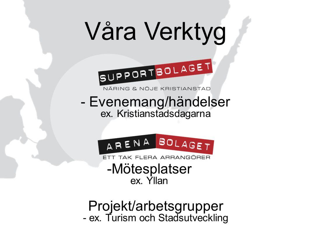 Våra Verktyg - Evenemang/händelser ex. Kristianstadsdagarna