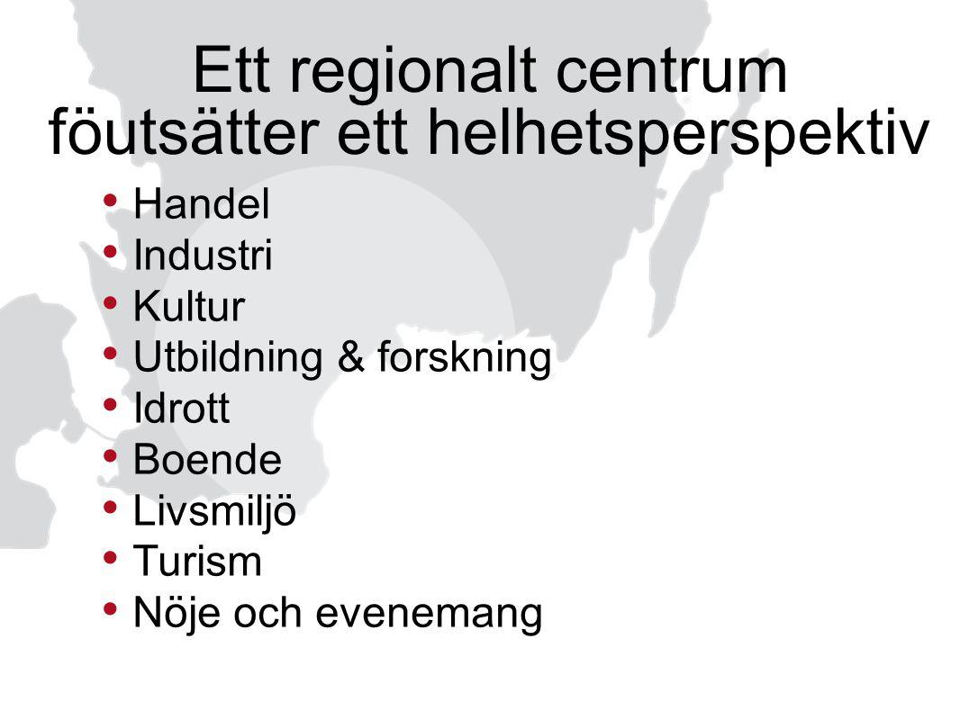 Ett regionalt centrum föutsätter ett helhetsperspektiv