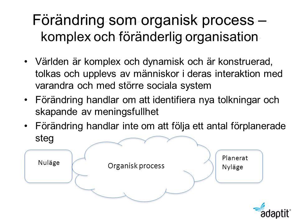 Förändring som organisk process – komplex och föränderlig organisation