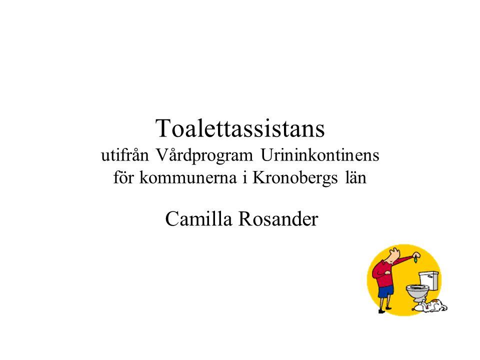 Toalettassistans utifrån Vårdprogram Urininkontinens för kommunerna i Kronobergs län