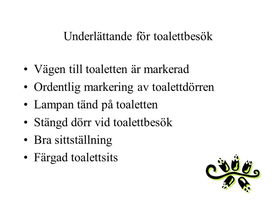 Underlättande för toalettbesök