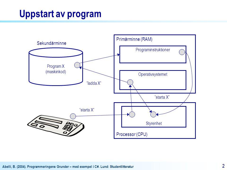 Programinstruktioner