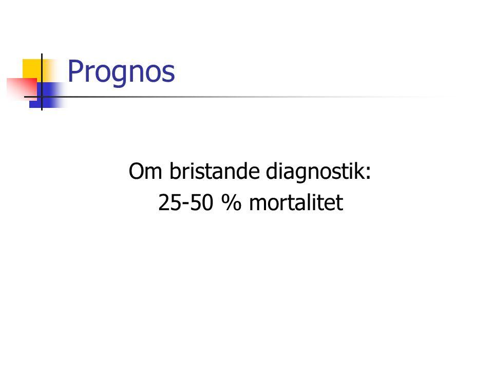 Om bristande diagnostik: