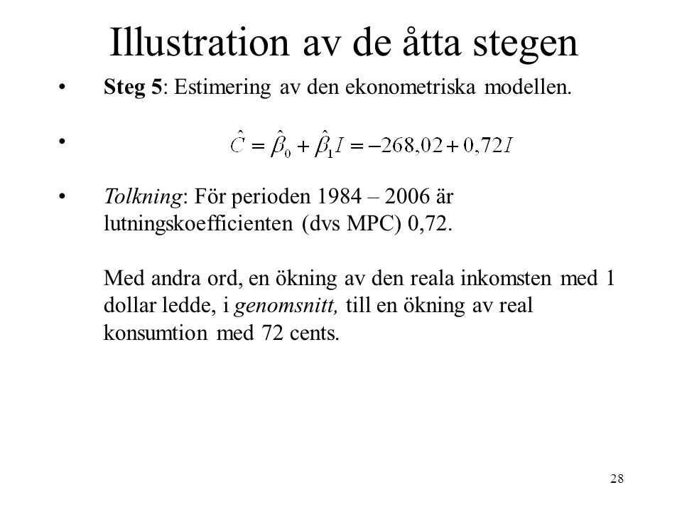Illustration av de åtta stegen