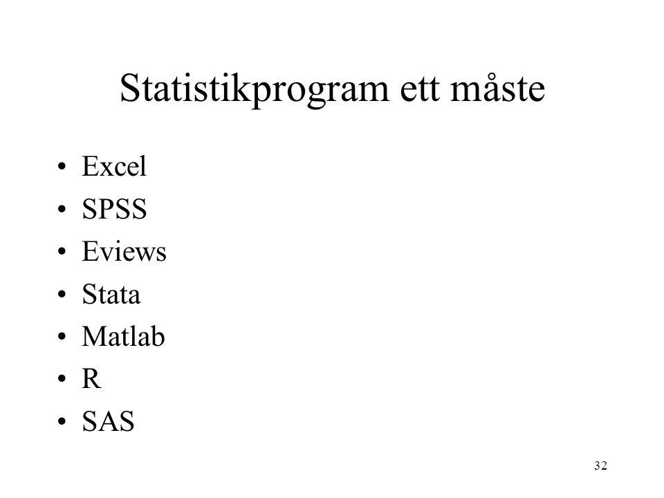 Statistikprogram ett måste