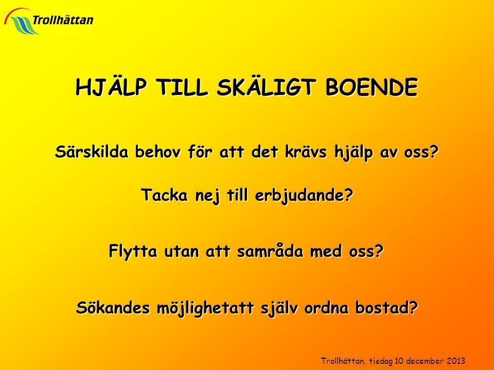 HJÄLP TILL SKÄLIGT BOENDE