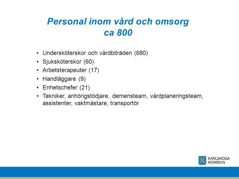 Personal inom vård och omsorg ca 800
