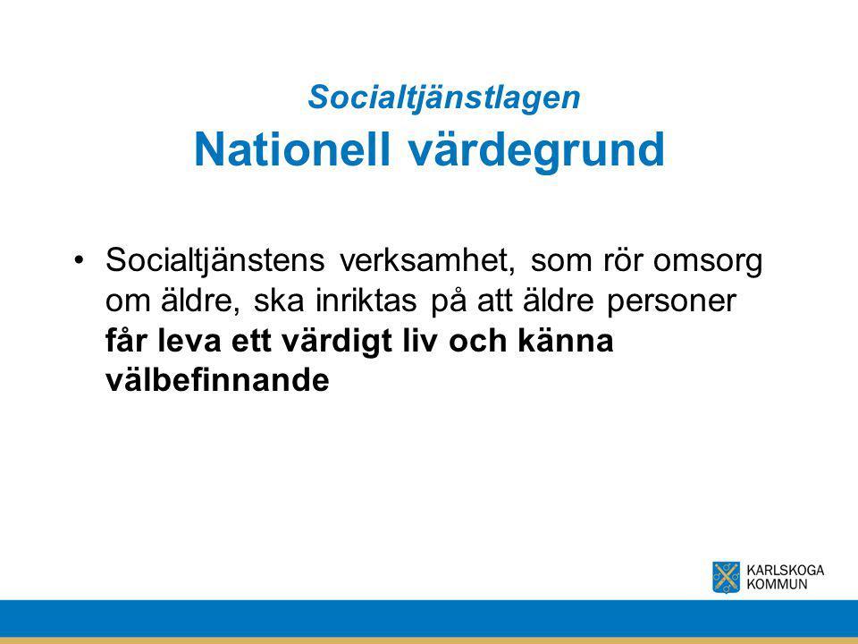 Nationell värdegrund Socialtjänstlagen