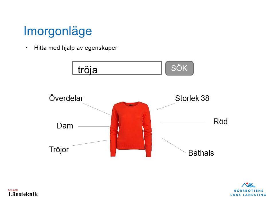Imorgonläge tröja SÖK Överdelar Storlek 38 Röd Dam Tröjor Båthals
