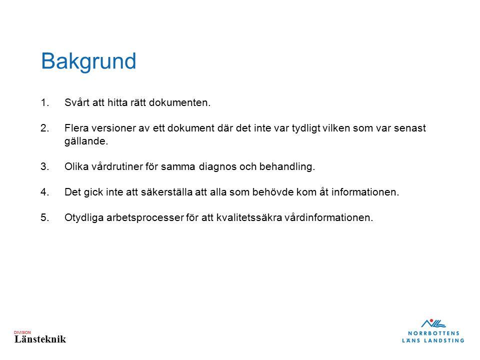 Bakgrund Svårt att hitta rätt dokumenten.