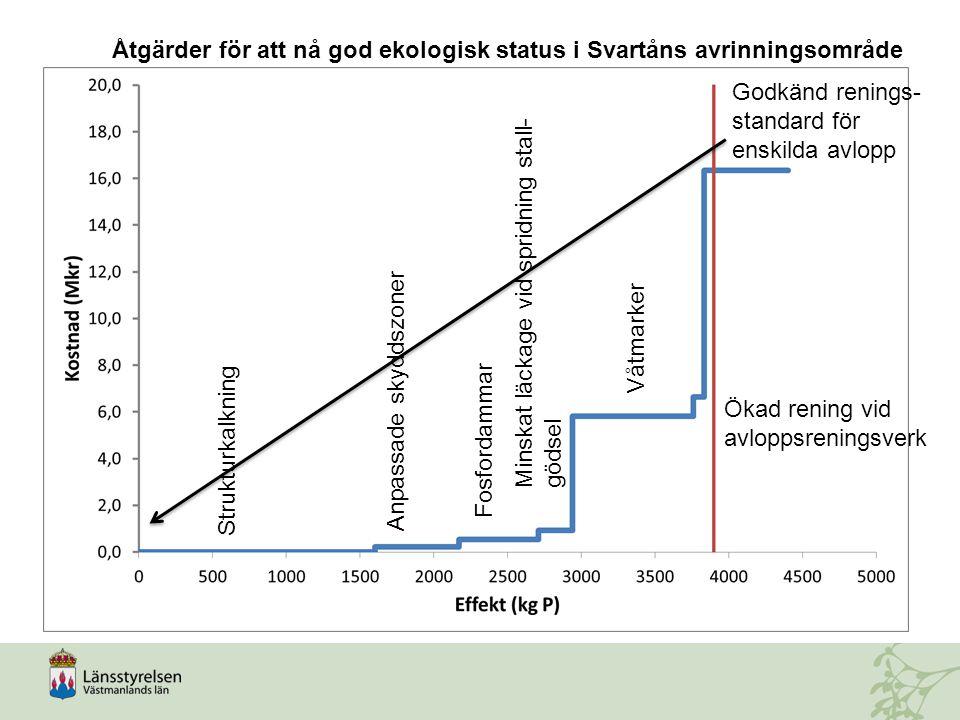 Åtgärder för att nå god ekologisk status i Svartåns avrinningsområde