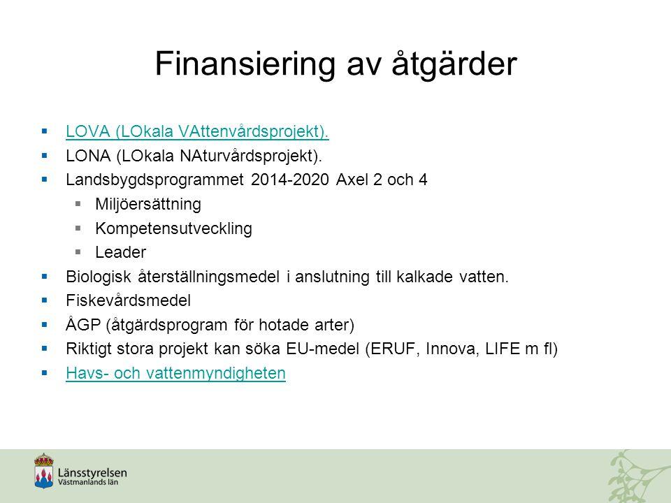 Finansiering av åtgärder