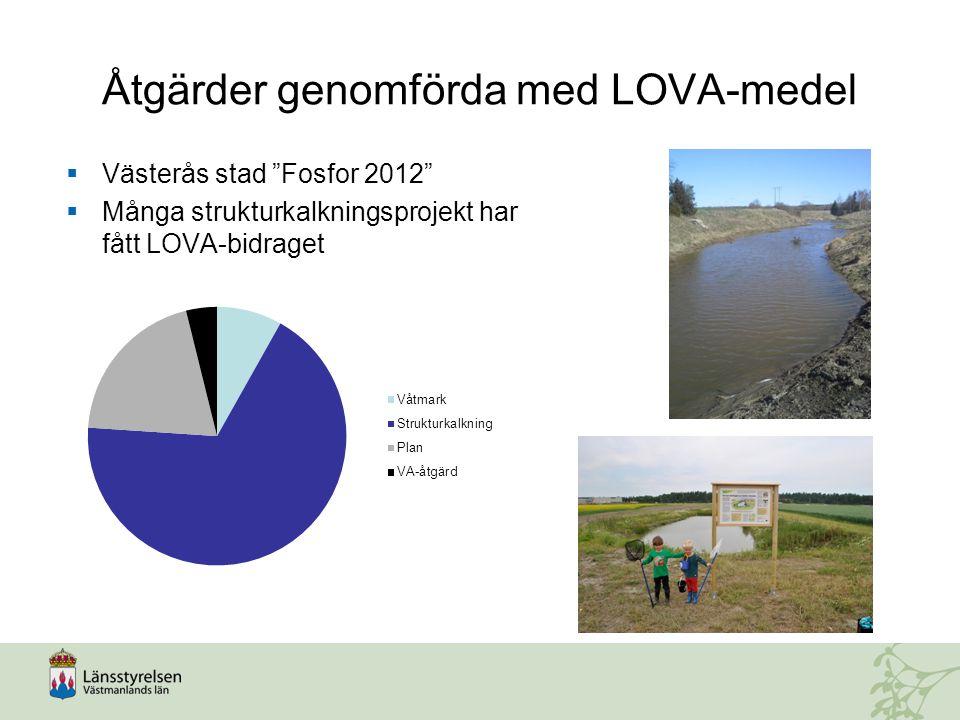 Åtgärder genomförda med LOVA-medel