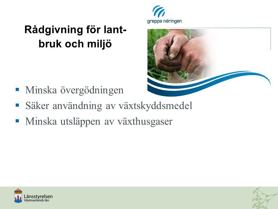 Rådgivning för lant-bruk och miljö