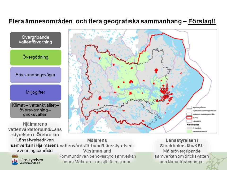 Flera ämnesområden och flera geografiska sammanhang – Förslag!!