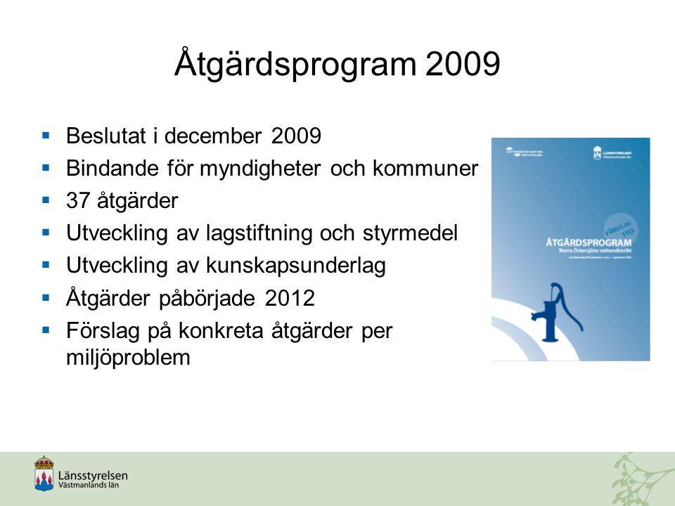 Åtgärdsprogram 2009 Beslutat i december 2009