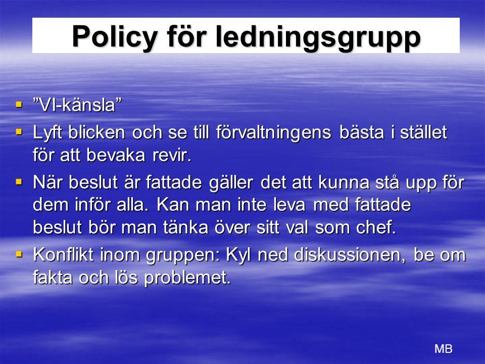 Policy för ledningsgrupp