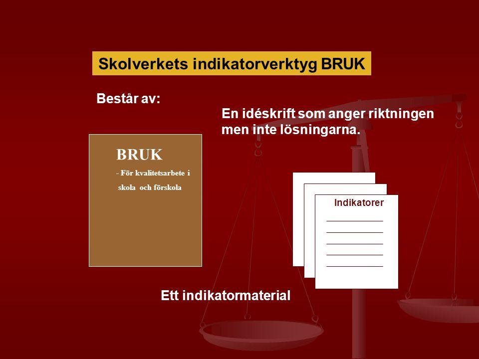 Skolverkets indikatorverktyg BRUK