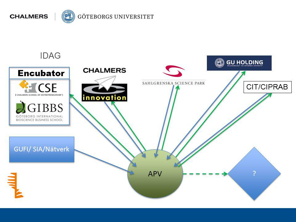 IDAG Encubator CIT/CIPRAB GUFI/ SIA/Nätverk APV