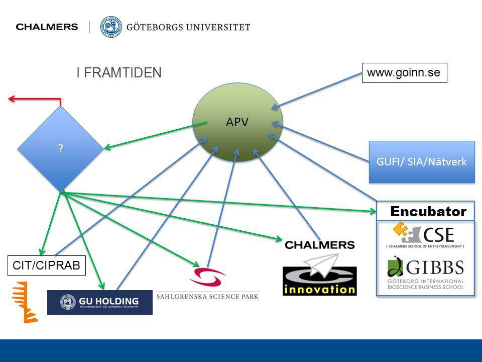 I FRAMTIDEN www.goinn.se APV GUFI/ SIA/Nätverk Encubator CIT/CIPRAB