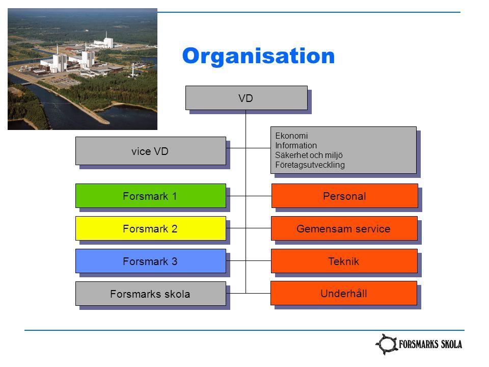 Organisation VD vice VD Forsmark 1 Personal Forsmark 2