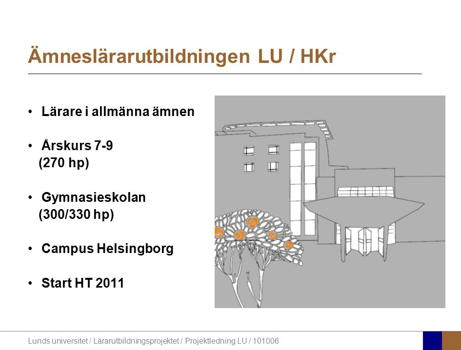 Ämneslärarutbildningen LU / HKr