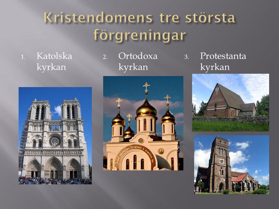 Kristendomens tre största förgreningar