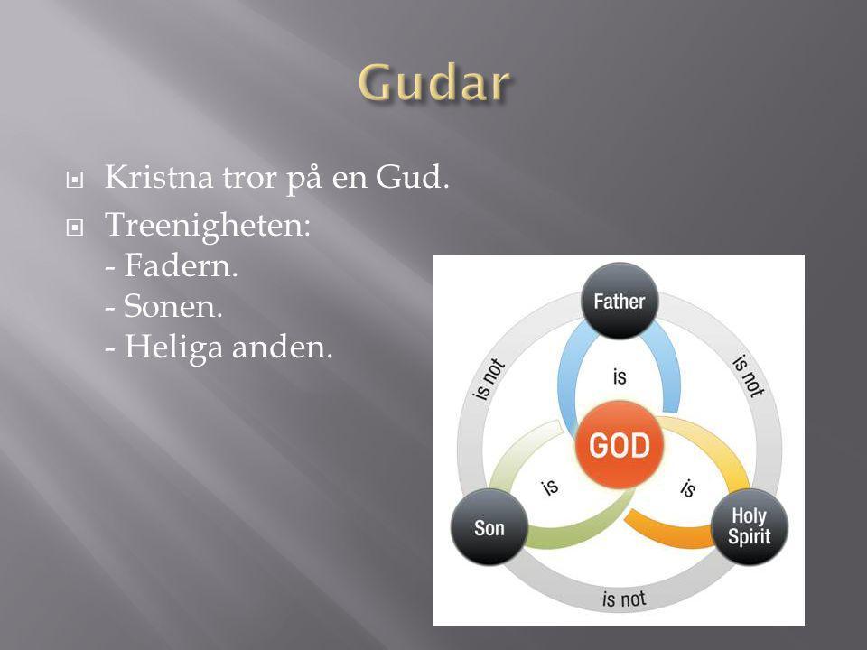 Gudar Kristna tror på en Gud.