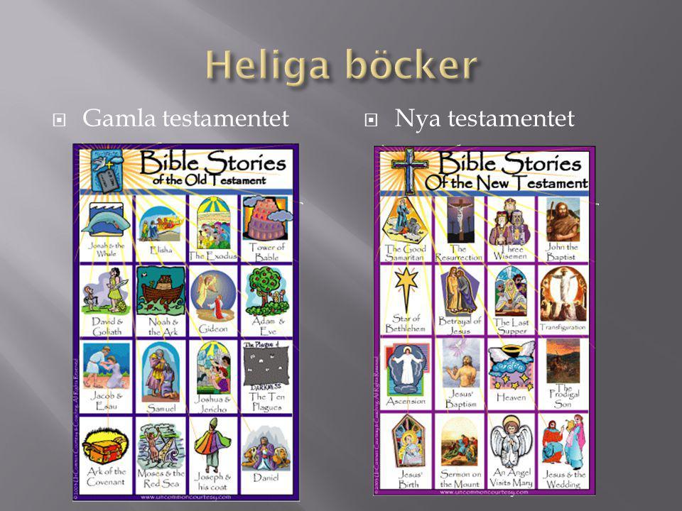 Heliga böcker Gamla testamentet Nya testamentet