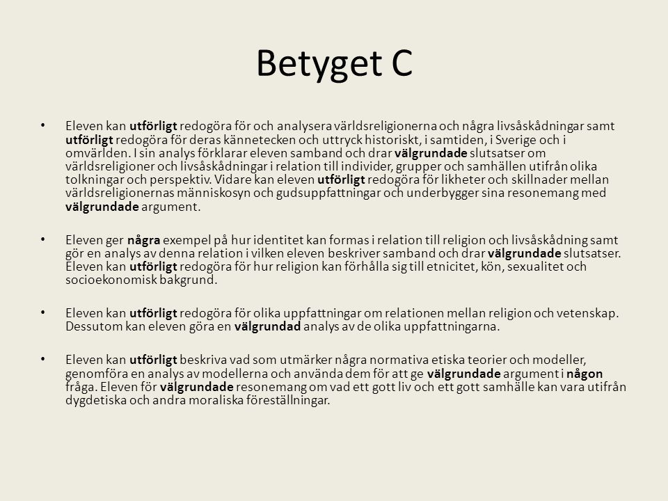Betyget C