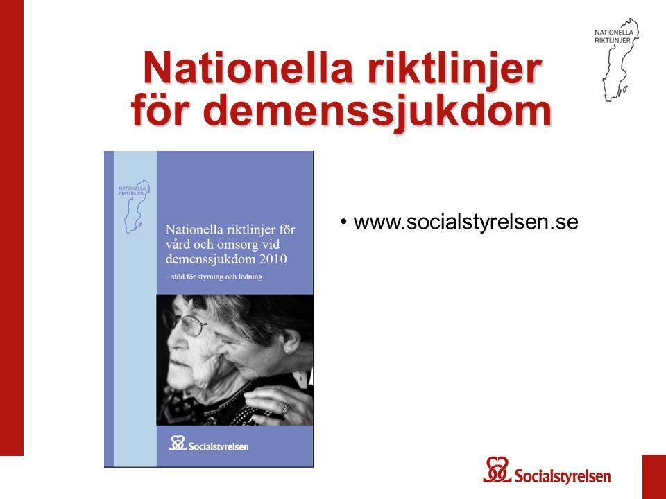 Nationella riktlinjer för demenssjukdom