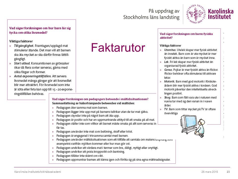 Faktarutor Karolinska Institutets folkhälsoakademi 8 april 2017