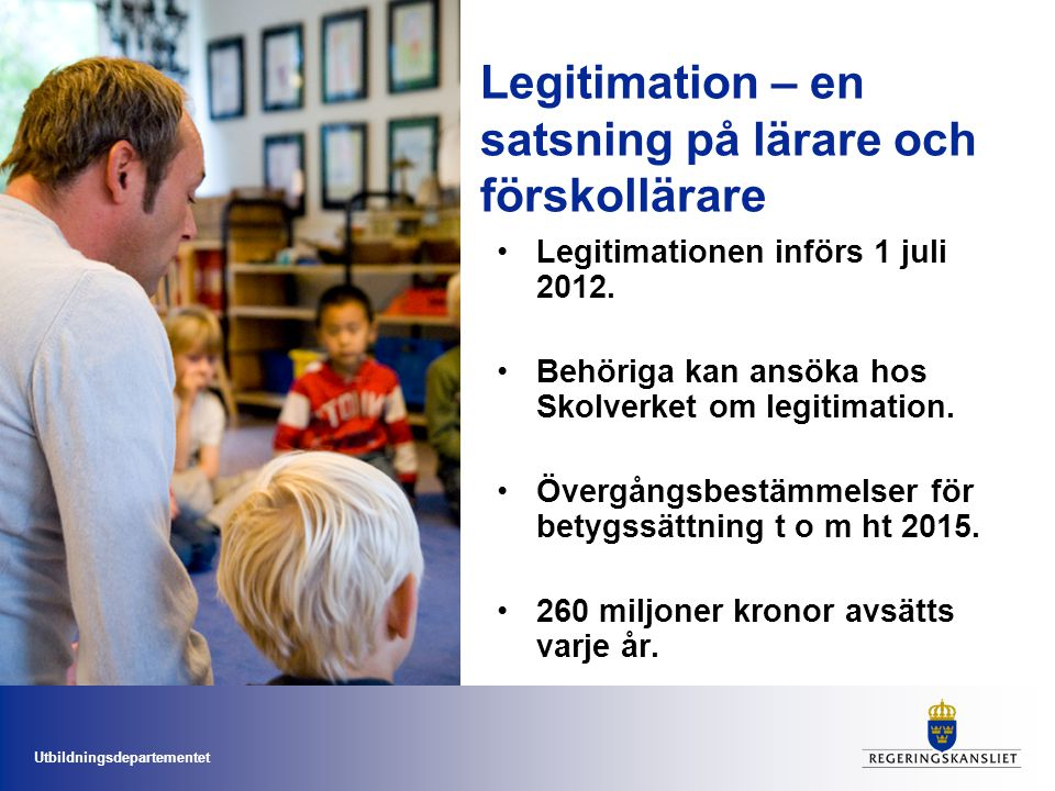 Legitimation – en satsning på lärare och förskollärare