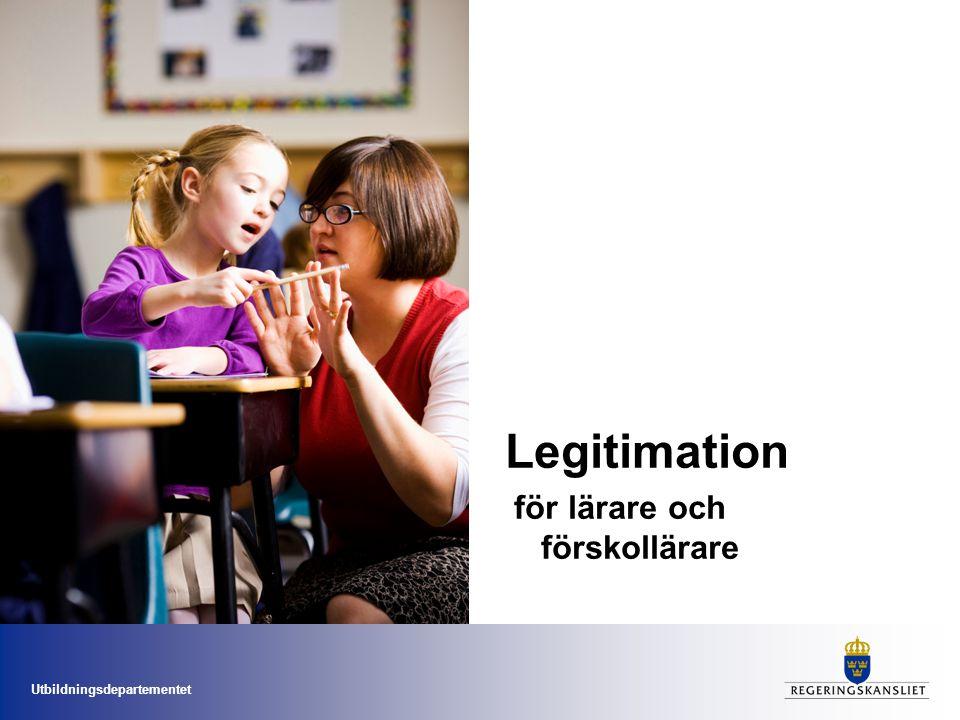 Legitimation  för lärare och förskollärare