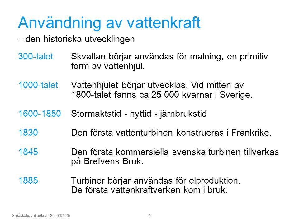 Användning av vattenkraft – den historiska utvecklingen