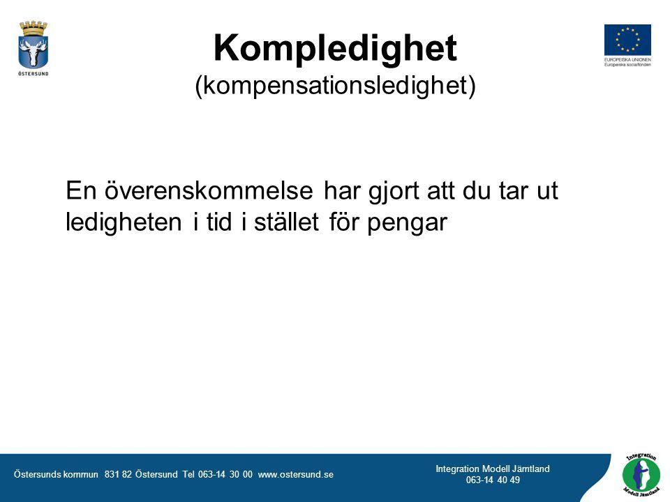 Kompledighet (kompensationsledighet)