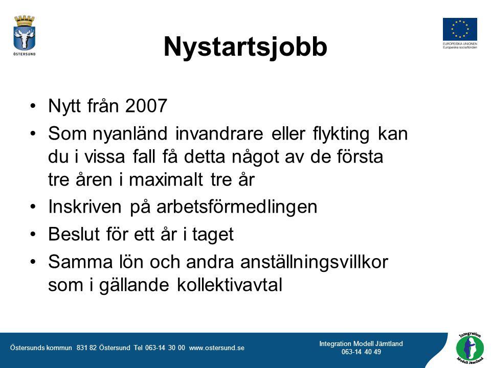 Nystartsjobb Nytt från 2007