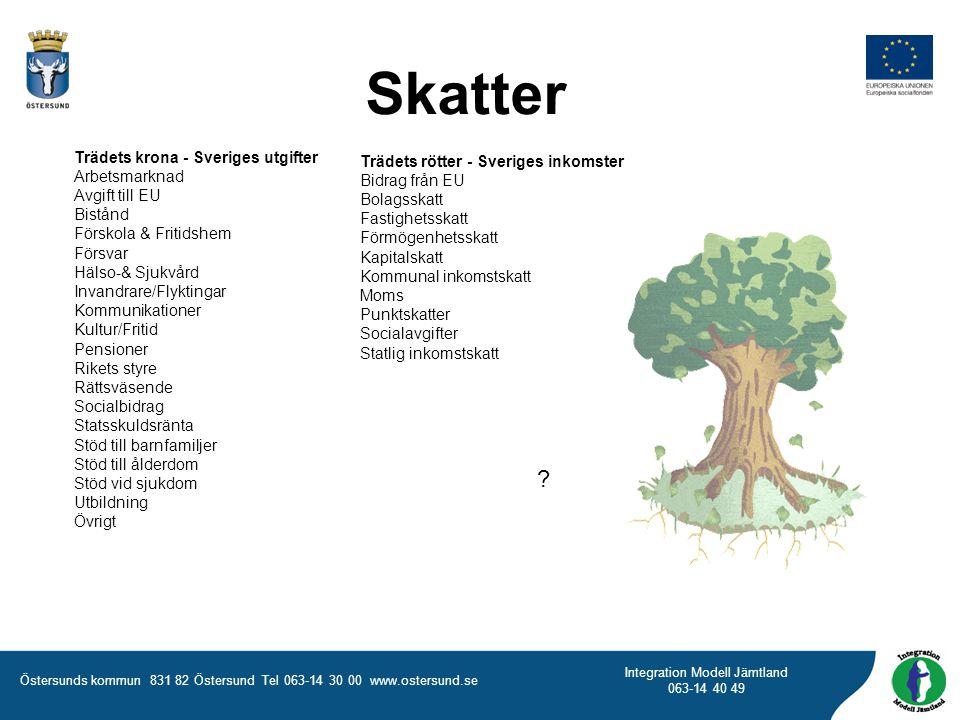 Skatter Trädets krona - Sveriges utgifter